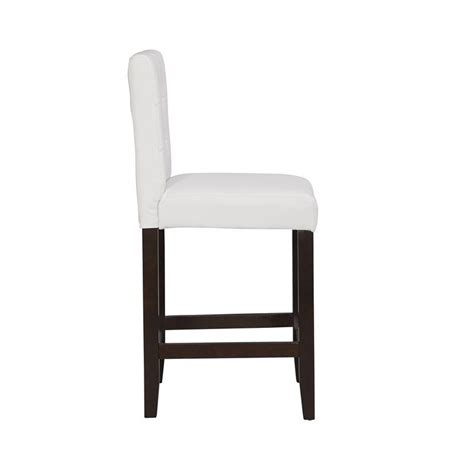 Parsons Counter Stools by Boraam Lyon Parsons 24 Quot Upholstery Counter Stool Set Of 2 In White 82224