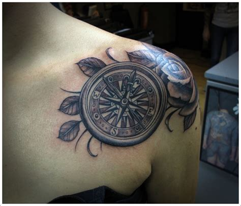 tattoo compass shoulder compass tattoo on shoulder design of tattoosdesign of