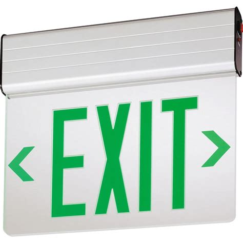 Lu Emergency Exit Led lithonia lighting aluminum led emergency exit sign edg 2 g