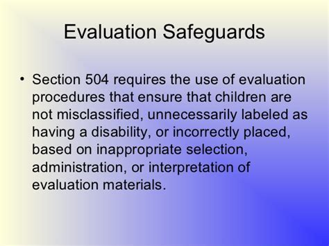 section 504 procedural safeguards section 504