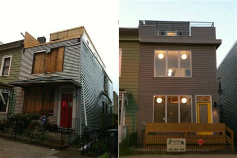 house facade renovation before and after reving a row house 203k style