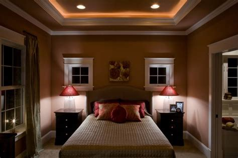 tray ceiling  master bedroom  rope lighting