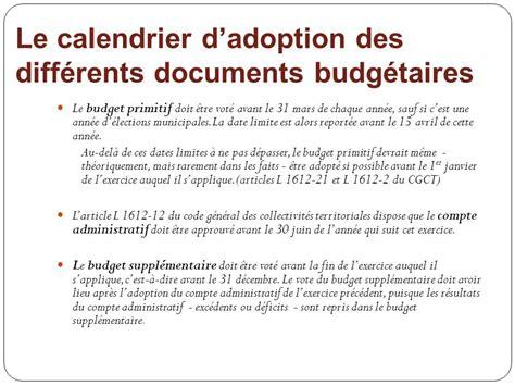 Calendrier Budget Primitif Le Budget Communal Notions De Base Ppt