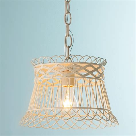 Basket Pendant Light Vintage Wire Basket Pendant Light By Shades Of Light