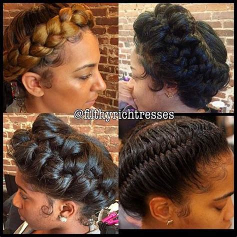 halo crowngoddess braids on natural hair black girl with halo posts and we on pinterest