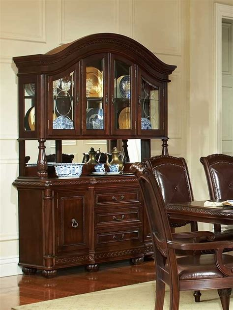gable formal cherry dining room table set von furniture
