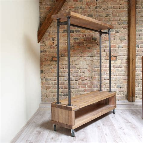 clothing storage industrial style clothing storage unit by cosywood