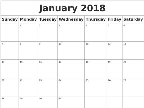 Calendar 2018 Malaysia January January Calendar 2018 Malaysia