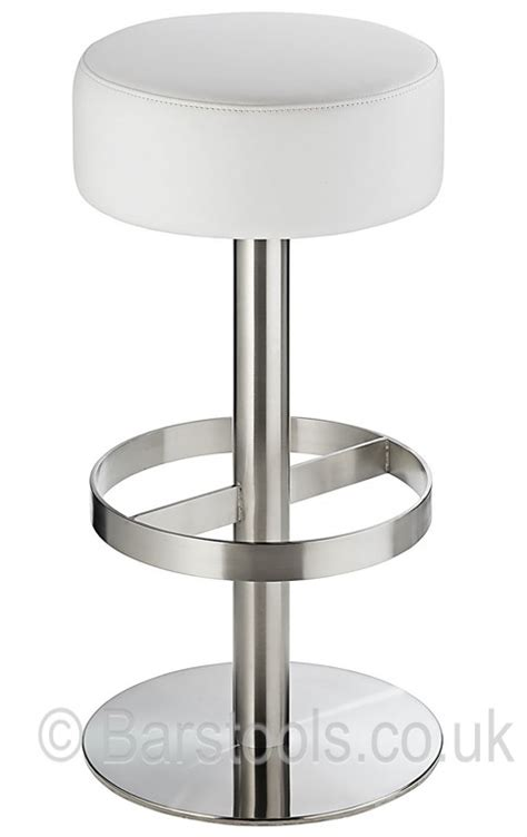 White In Stool by Lido Brushed Bar Stool White
