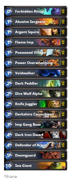 Hs S26 Tog My Warlock Zoo Ranking Deck In Depth