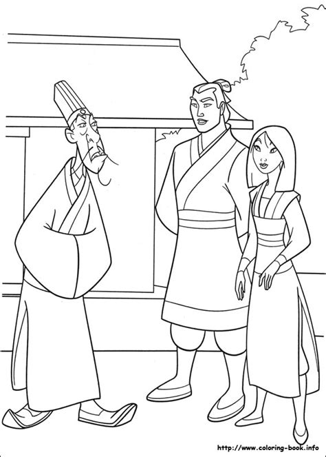 mulan coloring picture coloring sheets pinterest