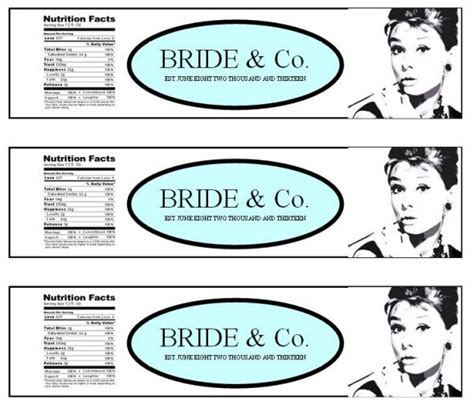 Bridal Shower Label Templates by Breakfast At S Water Bottle Labels Weddingbee
