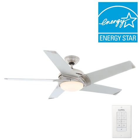 casablanca ceiling fan wall casablanca stealth 54 in indoor brushed nickel ceiling