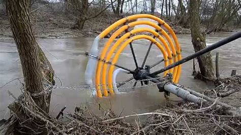this new water wheel does not require any electricity