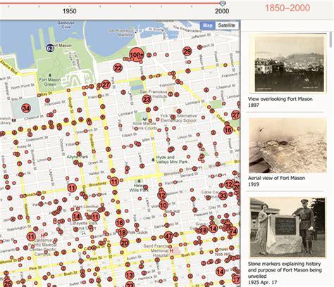 san francisco map interactive s f an interactive map of 16 000 san francisco