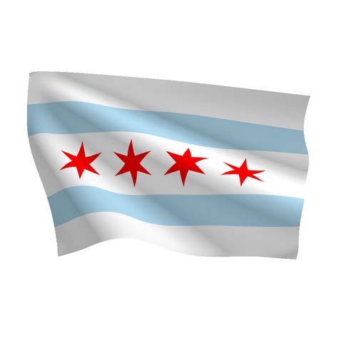Bunting Wall Stickers city of chicago flag flags international