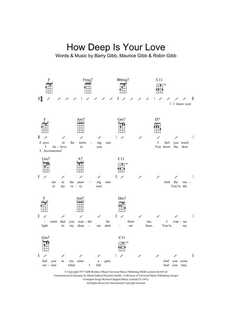 Imgenes De How Deep Is Your Love Guitar Chord