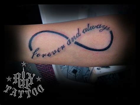 matching infinity tattoos for couples infinity rhy worx