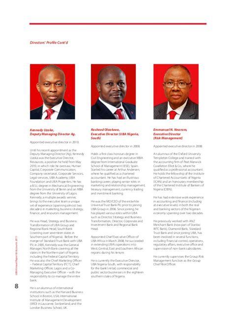 Mba Uba by Uba Annual Report 2011