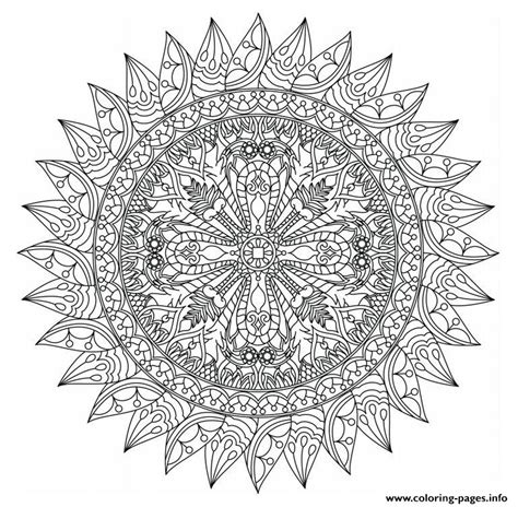 advanced mandala coloring pages printable advanced mandala marvelous adults coloring pages printable
