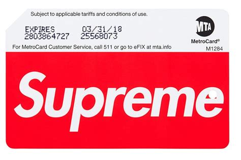 the supreme the mta s supreme branded metrocard is a commodity