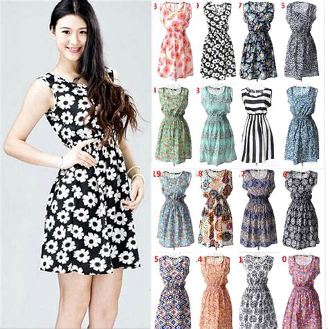 chiffon hairstyles 19 styles hot sale trend printed chiffon tank dresses for