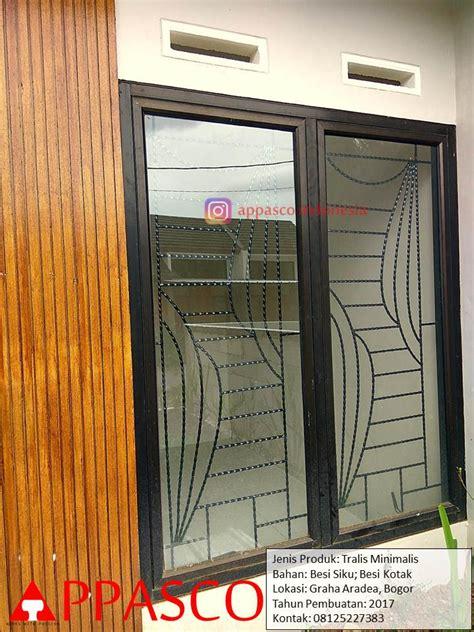 Teralis Minimalis Jendela Kamar Besi Siku Kotak di Bogor