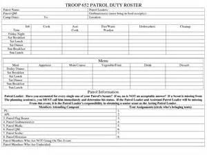 boy scout calendar template duty roster template excel template excel templates for
