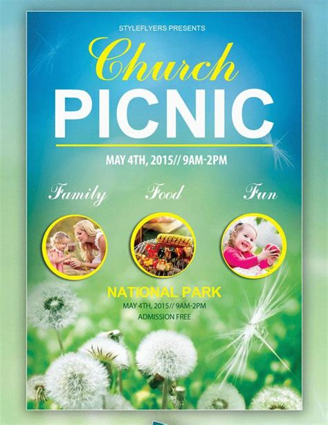 41 Church Flyer Templates Free Premium Download Free Church Picnic Flyer Templates