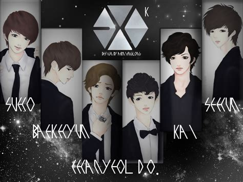exo wallpaper with name exo k wallpaper by aern punyapak