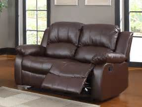 Brown Leather Recliner Sofa Homelegance Cranley Reclining Sofa Set Brown Bonded Leather U9700brw 3 At Homelement