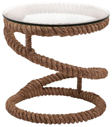 Rope Coffee Table Jute Rope Accent Table Bedford Style Side