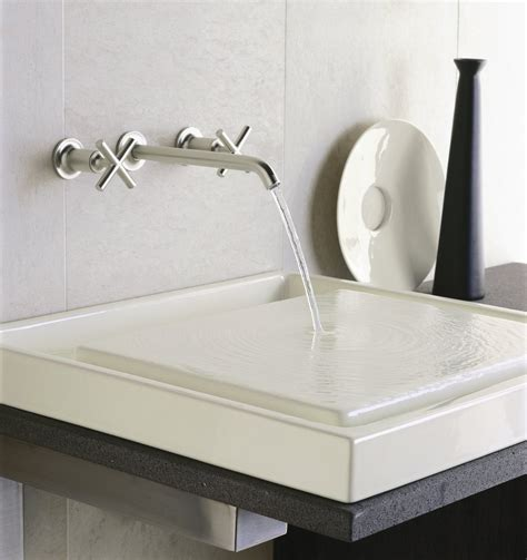 designer bathroom sinks bathroom cool wall stainless steel kohler purist decor