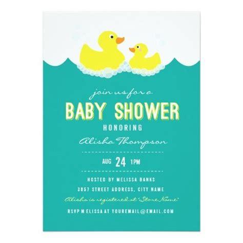 baby shower rubber sts invitaci 243 n ducky de goma de la de rubber ducky
