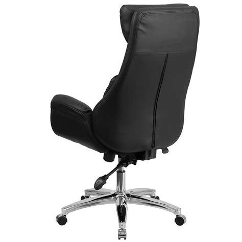 black leather desk chair ergonomic home high back black leather executive swivel