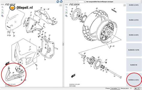 Suzuki V Strom Parts Catalogue Photos Reveal 2015 Suzuki Dl650 V Strom Going Adv