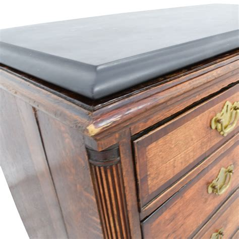Buy Dresser 79 Black Top And Wood Five Drawer Dresser