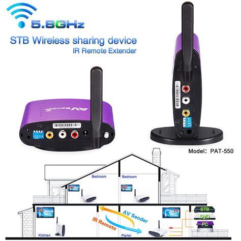 300m 5 8ghz tv wireless av transmitter receiver sender audio ir extender ebay