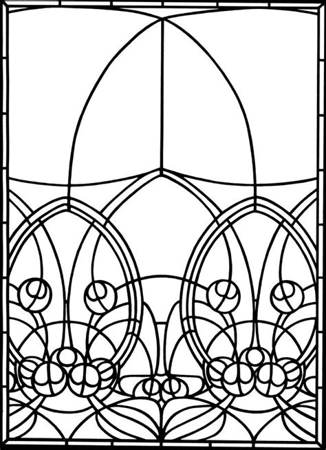 stained glass coloring book nouveau windows stained glass coloring book dover