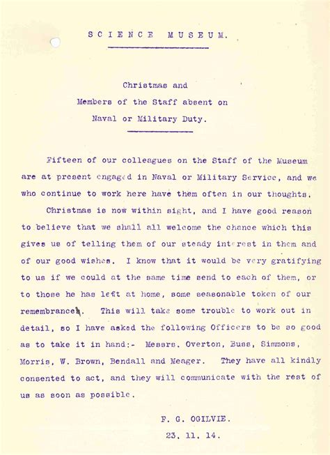 christmas message    world war science museum blog