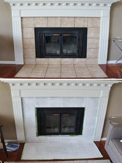 covering brick fireplace with ceramic tile how to re tile a fireplace surround home improvement