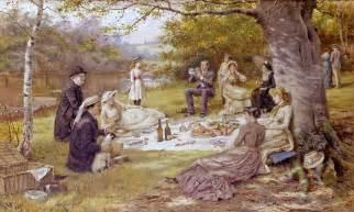 The Picnic Painting George Goodwin Kilburne Ctd