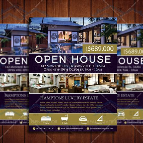 open house estate elegant open house listing property template real estate
