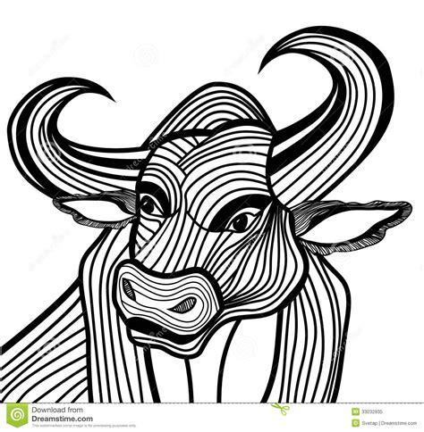 bull head vector animal illustration for t shirt royalty