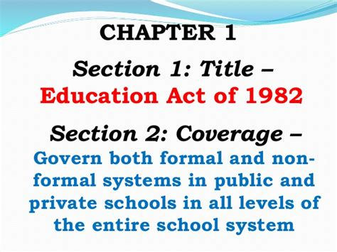 chapter 13 section 3 education and popular culture batas pambansa blg 232
