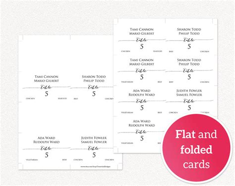 meal cards templates couples place card templates 183 wedding templates and