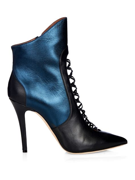 Ankle Boot 8809 Malone Souliers Mona Bi Color Leather Ankle Boots In Black