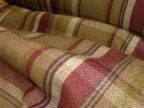 thick curtain fabric elgin heather wool effect washable thick tartan curtain fabric