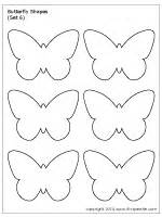 butterfly shapes printable templates amp coloring pages firstpalette