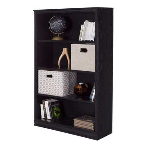 south shore 4 shelf bookcase south shore 4 shelf bookcase in black oak 10141